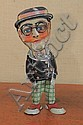 TIN WIND UP TOY. Marx lithographed Harold Lloyd walker with cane, when wound he dances and smiles. 11