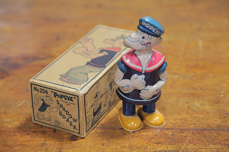 J CHEIN & CO. POPEYE WIND UP TOY.