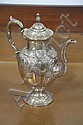 FISHER STERLING SILVER COFFEE POT.