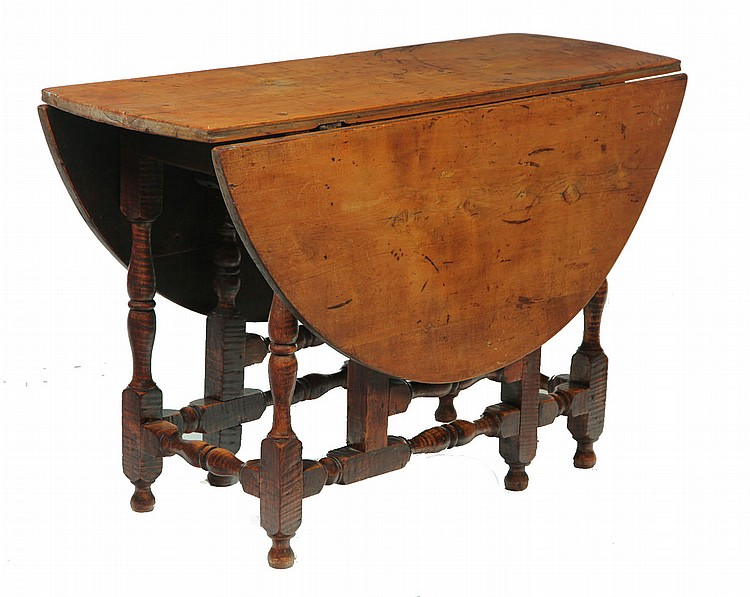 WILLIAM AND MARY GATE-LEG TABLE.