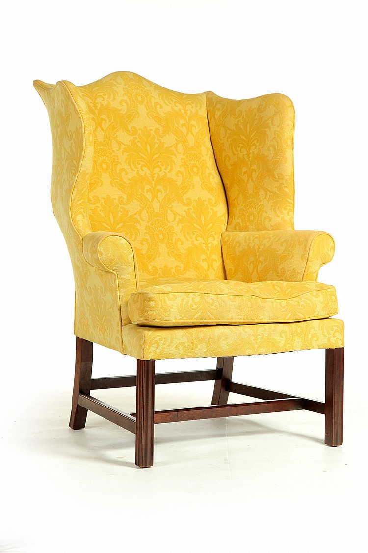 CHIPPENDALE EASY CHAIR.