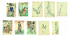 GROUP OF WOODBLOCK PRINTS AND BOTANICALS.