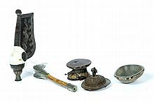 FOUR CEREMONIAL ITEMS.