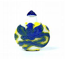 PEKING GLASS SNUFF BOTTLE.