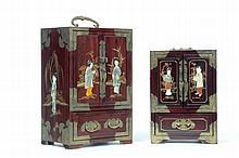TWO JEWELRY BOXES.
