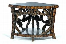 RUSTIC ROOT TABLE.