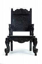 CARVED ARMCHAIR.