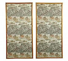 PAIR OF EMBROIDERY PANELS.