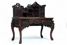 CARVED EXPORT DESK.