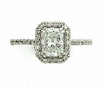 1.04 CT RADIANT DIAMOND RING