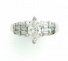 1.02 CT MARQUISE DIAMOND RING