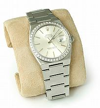MEN'S STAINLESS ROLEX WATCH