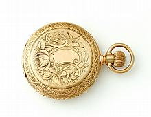 14K BONNETT HUNTER CASE POCKET WATCH