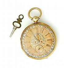 18K TOBIAS OPEN FACE POCKET WATCH