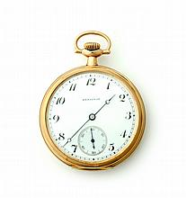 14K HAMILTON OPEN FACE POCKET WATCH