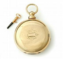 18K GEORGE HOOPER HUNTER CASE POCKET WATCH