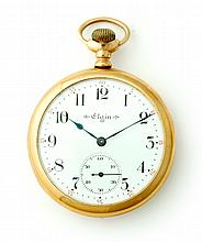 ELGIN 14K OPEN FACE POCKET WATCH
