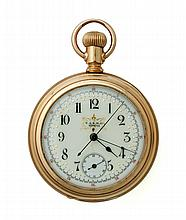 14K T.A.R. OPEN FACE POCKET WATCH