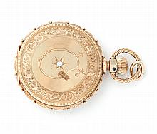 ELGIN 14K HUNTER CASE POCKET WATCH