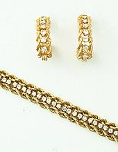 DIAMOND BRACELET AND EARRINGS