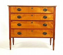 FOUR-DRAWER SHERATON CHEST.