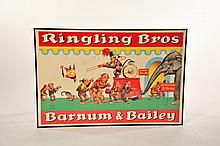 FRAMED RINGLING BROTHERS BARNUM AND BAILEY POSTER.