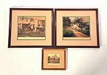 THREE FRAMED WALLACE NUTTING PRINTS.