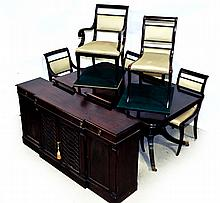 TEN-PIECE FEDERAL-STYLE DINING SUITE.