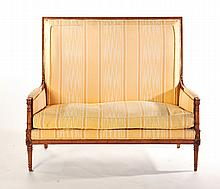 FRENCH REGENCY-STYLE HIGHBACK SETTEE.