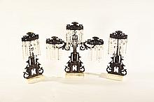 THREE-PIECE GIRANDOLE SET.