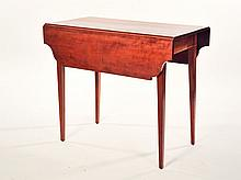 HEPPLEWHITE DROP LEAF TABLE.