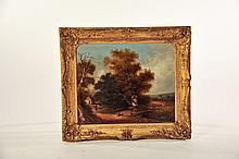 GILT FRAMED PAINTING.