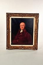 FRAMED PORTRAIT OF A GENTLEMAN (ENGLISH SCHOOL, 19TH CENTURY).