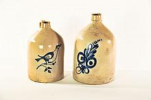 TWO STONEWARE JUGS.