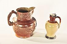 ROCKINGHAM PITCHER AND SYRUP JUG.