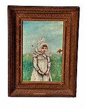 FRAMED PORTRAIT OF A GIRL.