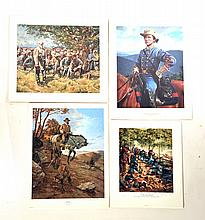 FOUR UNFRAMED LIMITED EDITION CIVIL WAR PRINTS.