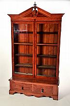 VICTORIAN ONE-PIECE BOOKCASE.