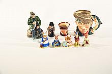 NINE ROYAL DOULTON FIGURAL PIECES.
