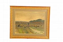 FRAMED WATERCOLOR BY CORNELIUS WESTERBEEK (NETHERLANDS, 1844-1903).