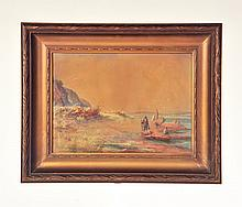 FRAMED WATERCOLOR BY WILLIAM WOODLAND (ENGLAND, B. 1909).