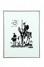 DON QUIXOTE AFTER PABLO PICASSO (SPANISH/FRENCH, 1881-1973).