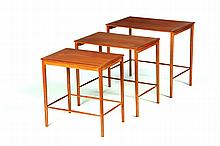 DANISH MODERN NESTING TABLES.