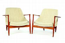 PAIR OF ELIZABETH LOUNGE CHAIRS BY I. B. KOFOD-LARSEN FOR CHRISTENSEN & LARSEN.
