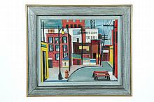 STREET SCENE BY LUCHY YOUNG (AMERICAN, 20TH CENTURY).
