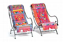 PAIR OF MODERN CAMPECHE CHAIRS BY NEIL BURGE.
