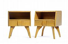 PAIR OF MODERNIST HEYWOOD WAKEFIELD TABLES.