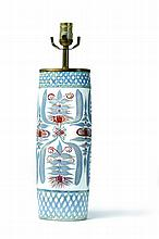 ROYAL COPENHAGEN FAIENCE LAMP BY MARIANNE JOHNSON.