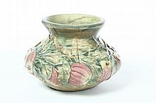 WELLER POTTERY BALDIN APPLE VASE.