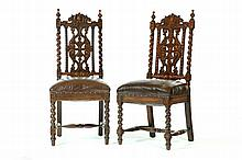 PAIR OF WILLIAM AND MARY-STYLE CHAIRS.